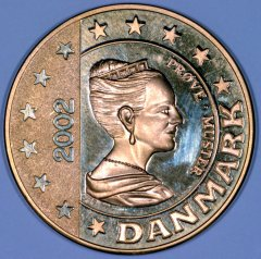Obverse of New Danish €5 Pattern Coin